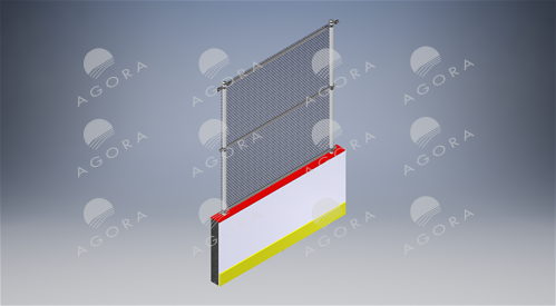 Professional Hockey Aluminum Dashers boards with galvanized fence