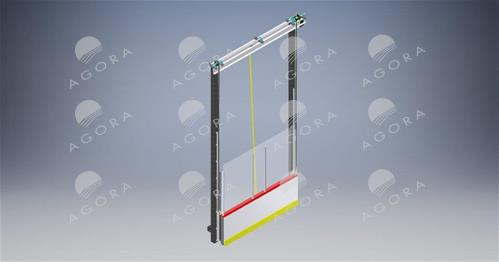 Electrical vertical lift gate