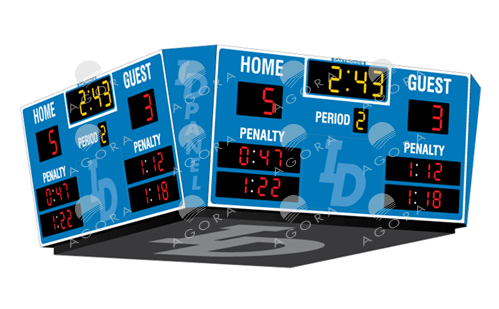 H-2109 Hockey Scoreboards