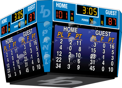 Tableau de pointage de basketball BB-2146