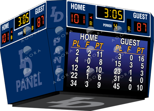 Tableau de pointage de basketball BB-2147