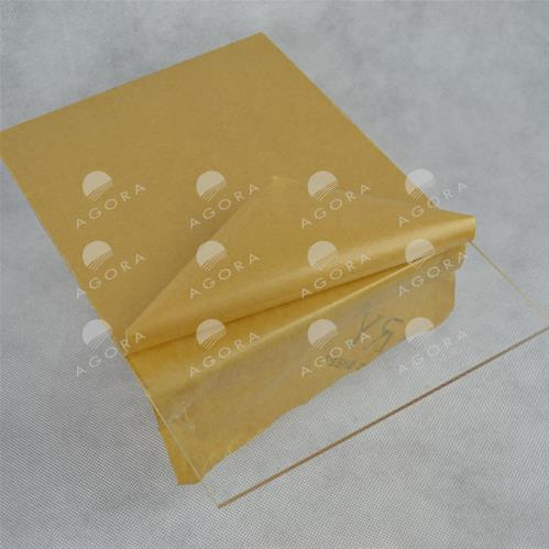 Protective shielding in clear plexiglass