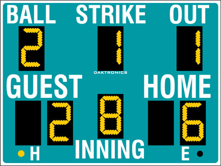 BA-2010 Baseball Scoreboards