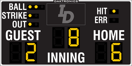 BA-2618 Baseball Scoreboards