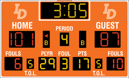 Tableau de pointage de basketball BB-2123