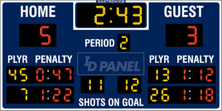 H-2104 Hockey Scoreboards